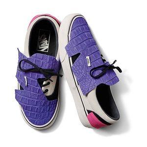 NEW Vans Origami Embossed Purple Croc Sneakers